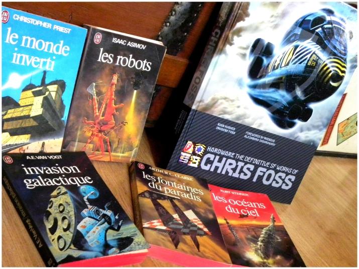 Chris Foss, illustrateur de talent pour des auteurs tels que A.C. Clarke, A.E. Van Vogt, I. Asimov, C. Priest...